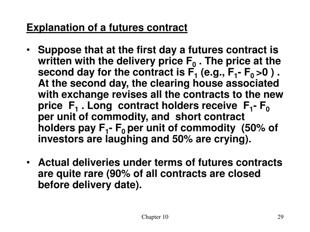 Explanation of a futures contract