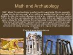math and archaeology