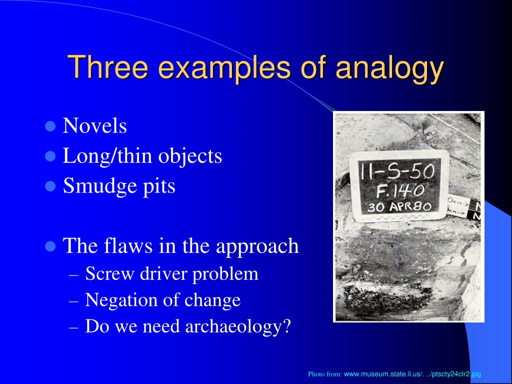 Three examples of analogy