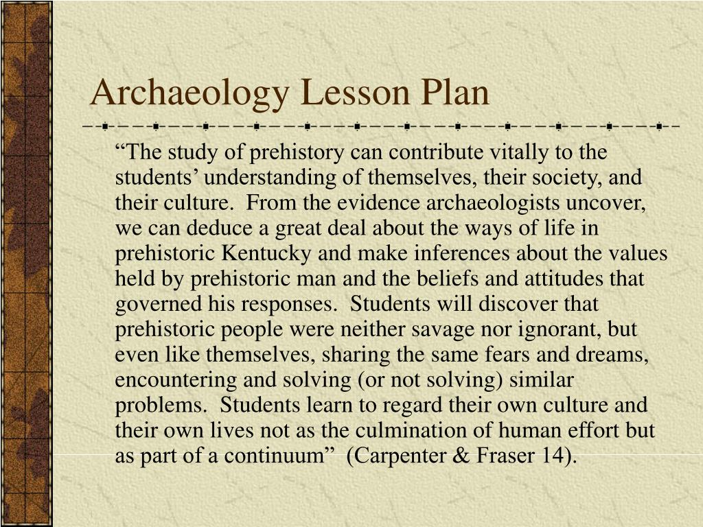 archaeology lesson plan l.