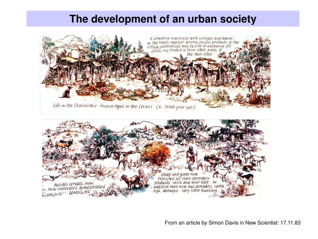 The development of an urban society