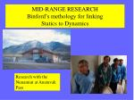 mid range research binford s methology for linking statics to dynamics