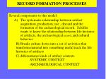 record formation processes