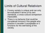 limits of cultural relativism