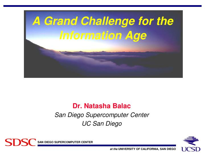 a grand challenge for the information age n.