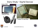 diary study digital devices