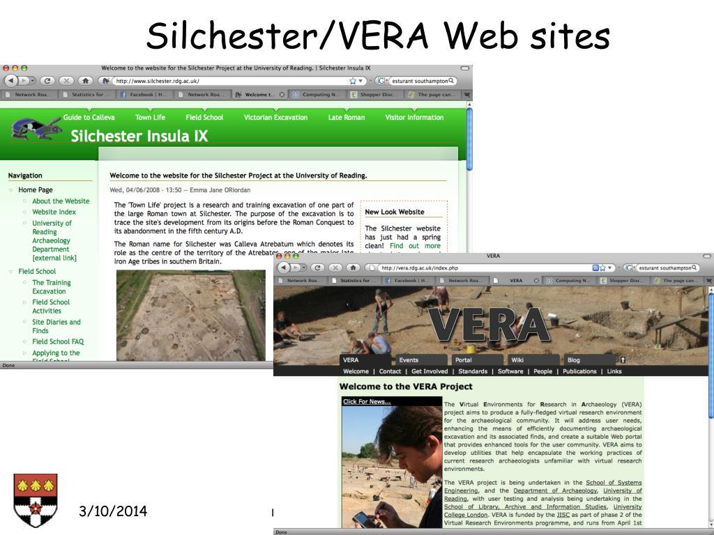 Silchester/VERA Web sites