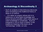 archaeology discontinuity 2