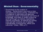mitchell dean governmentality
