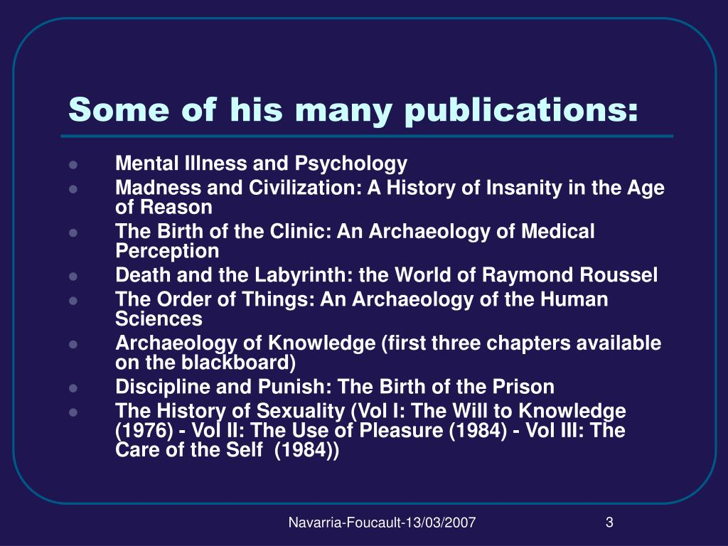 Some of his many publications: