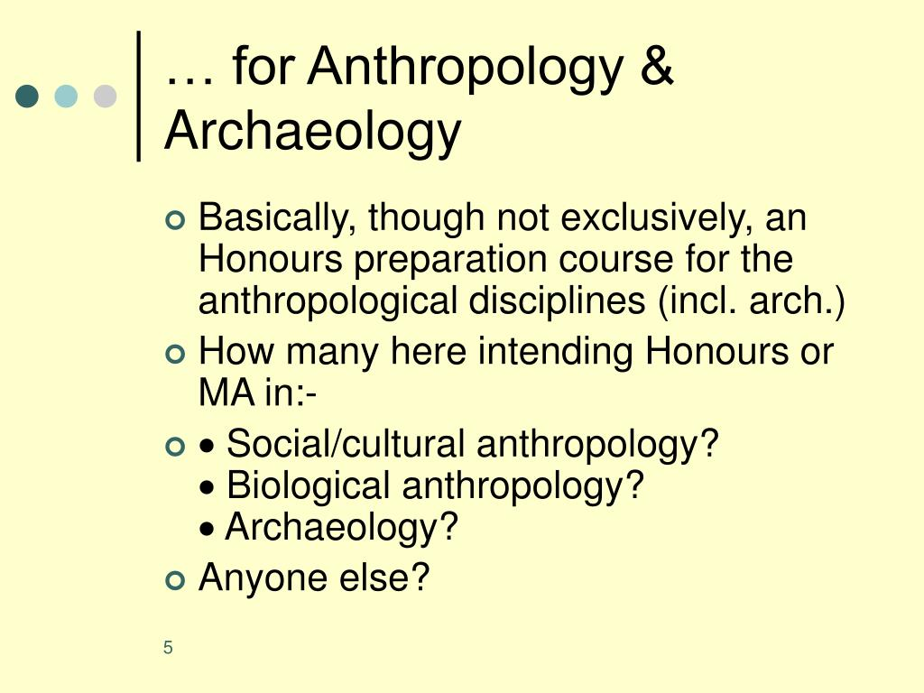 … for Anthropology & Archaeology