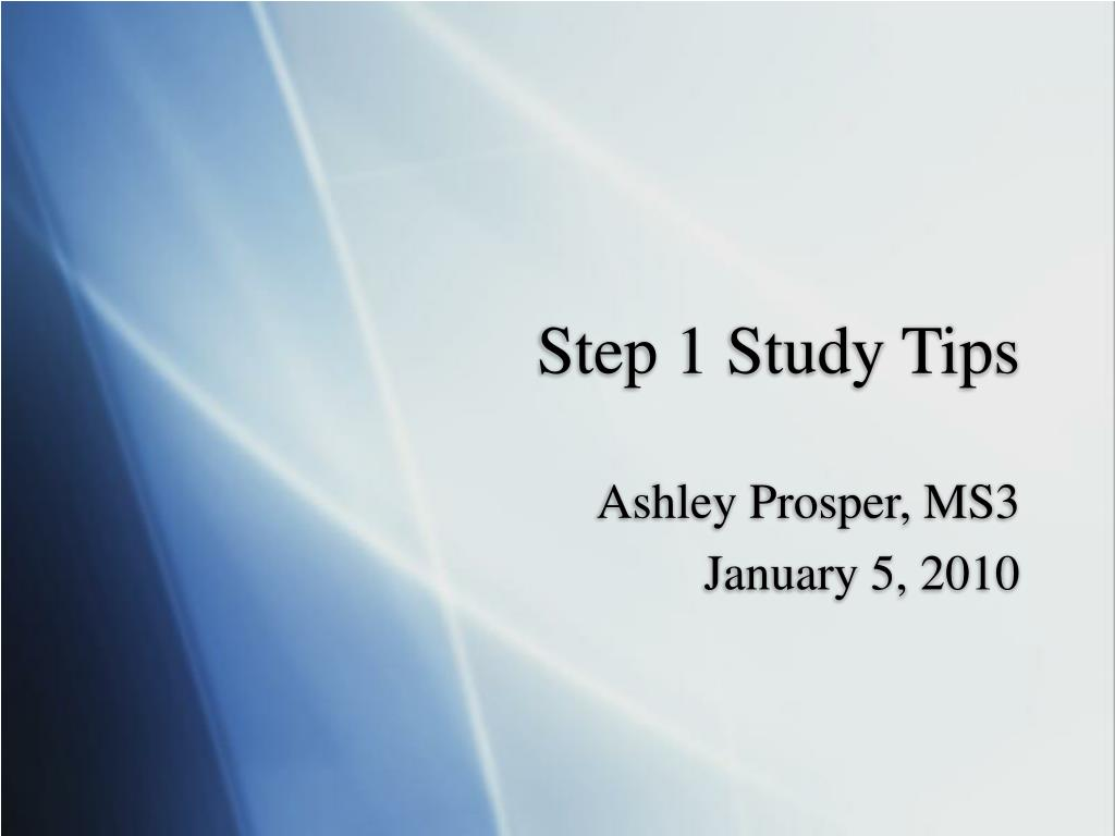 step 1 study tips l.