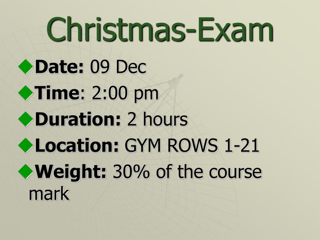 Christmas-Exam