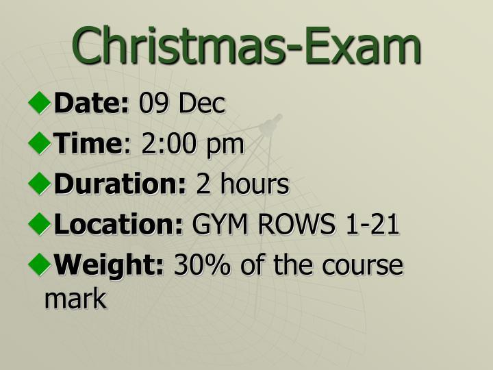 Christmas exam