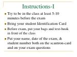instructions i