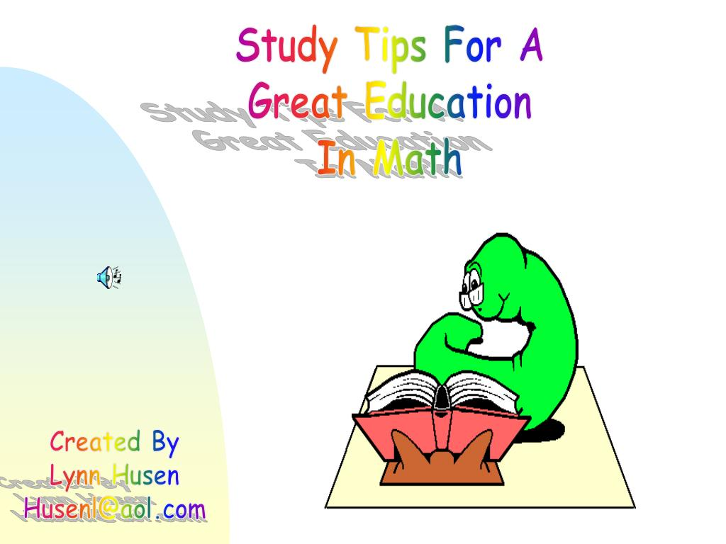 Study Tips For A