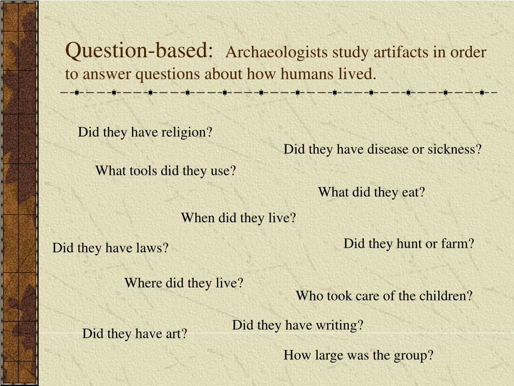 Question-based: