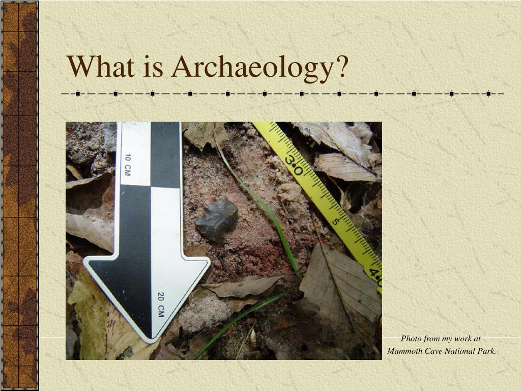 what is archaeology l.