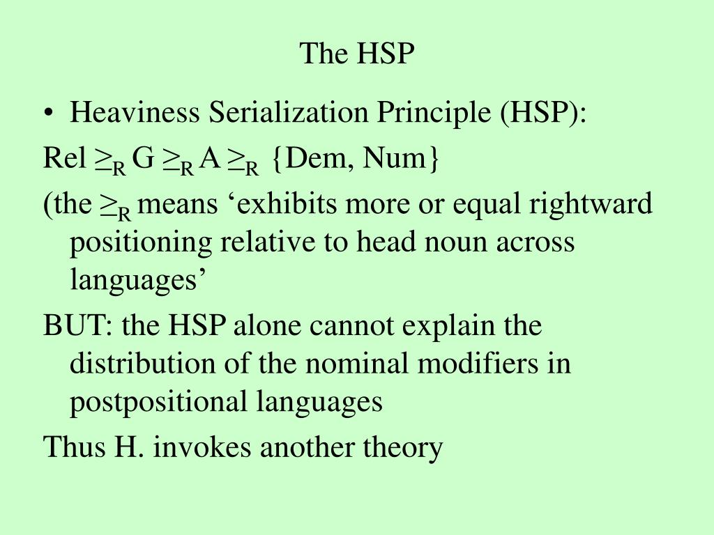 The HSP