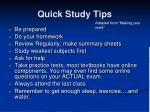 quick study tips