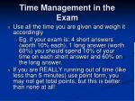 time management in the exam