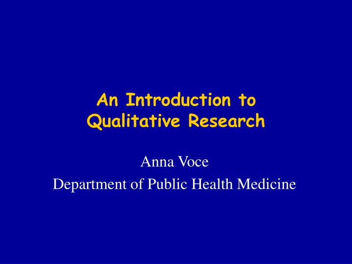 an introduction to qualitative research n.