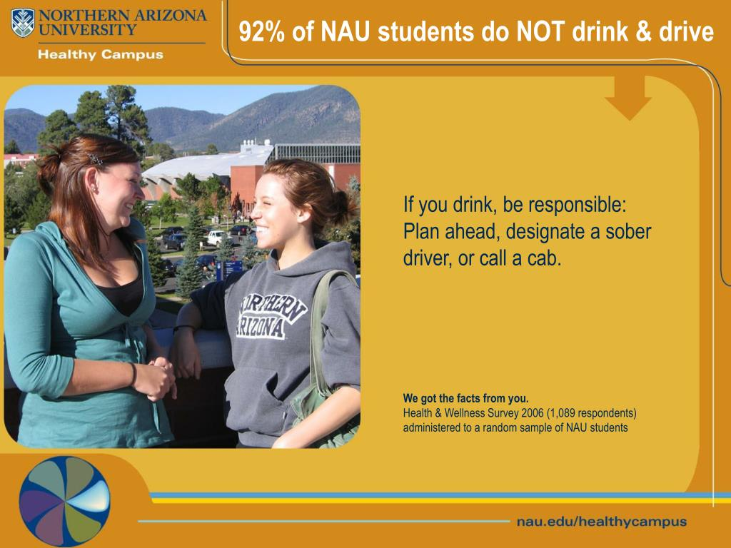 92% of NAU students do NOT drink & drive
