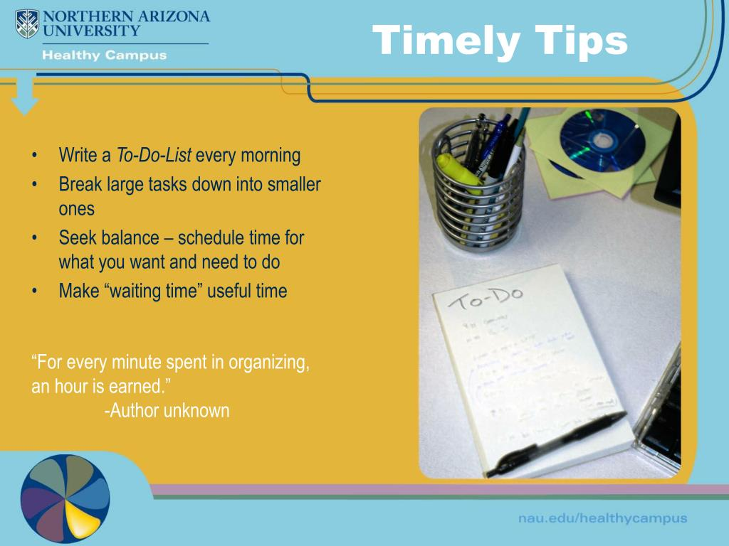 Timely Tips