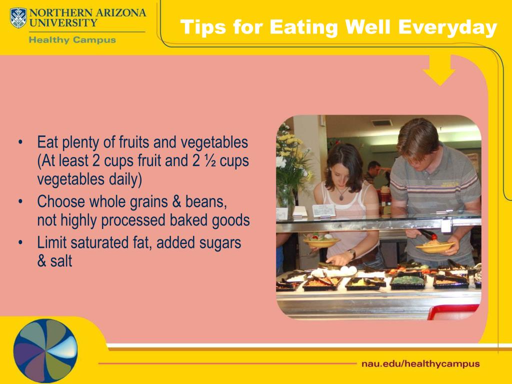 Tips for Eating Well Everyday