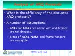 analysis of arq protocols