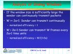 analysis of sliding windows63