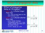 effect of propagation delay