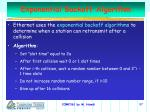 exponential backoff algorithm