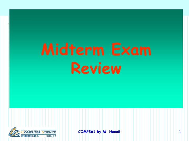 midterm exam review n.
