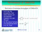 performance of csma cd100