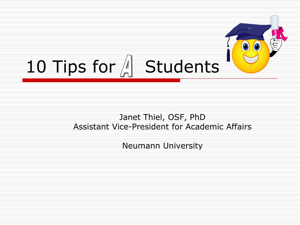 10 tips for students l.