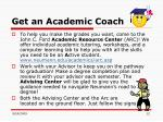get an academic coach