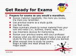 get ready for exams