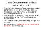 class concern email or ews notice what is it