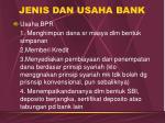 jenis dan usaha bank