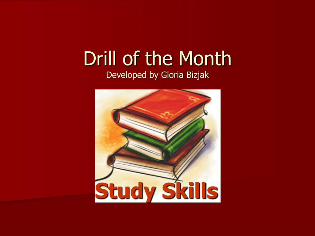 drill of the month developed by gloria bizjak l.