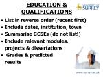 education qualifications