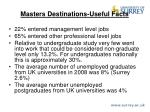 masters destinations useful facts