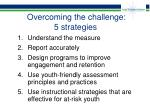 overcoming the challenge 5 strategies
