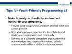 tips for youth friendly programming 3