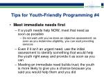 tips for youth friendly programming 4