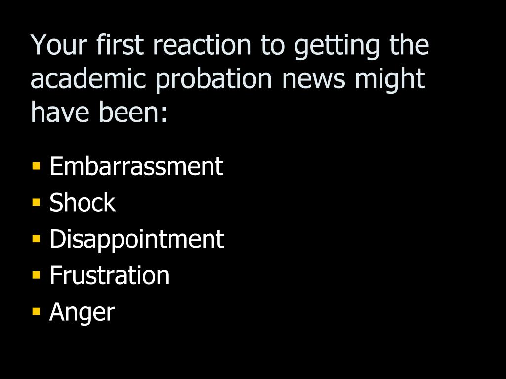 Your first reaction to getting the academic probation news might have been: