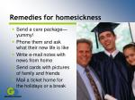 remedies for homesickness