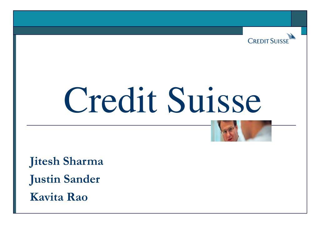 credit suisse l.