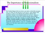 the importance of professionalism